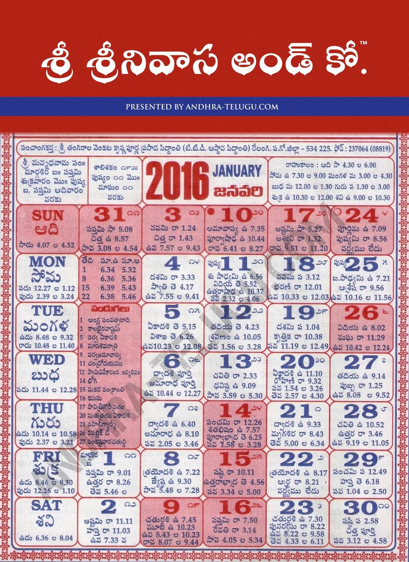 GANTALA PANCHANGAM 2015-16 TELUGU DOWNLOAD